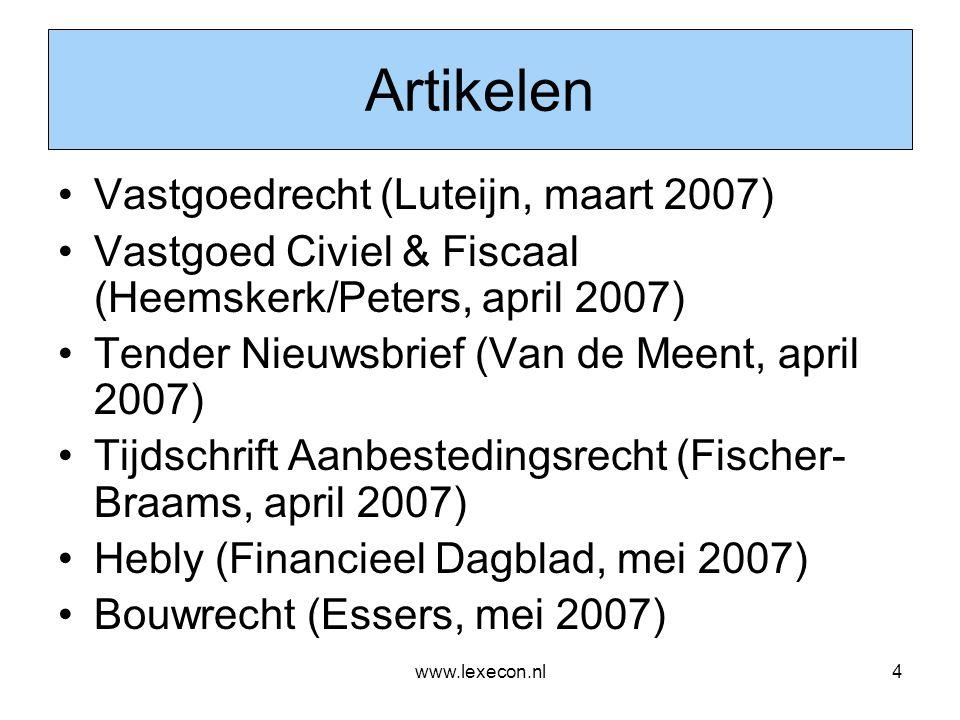 Artikelen Vastgoedrecht (Luteijn, maart 2007)