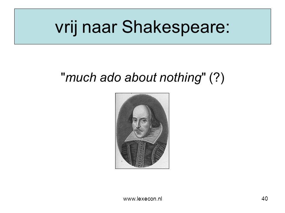 vrij naar Shakespeare: