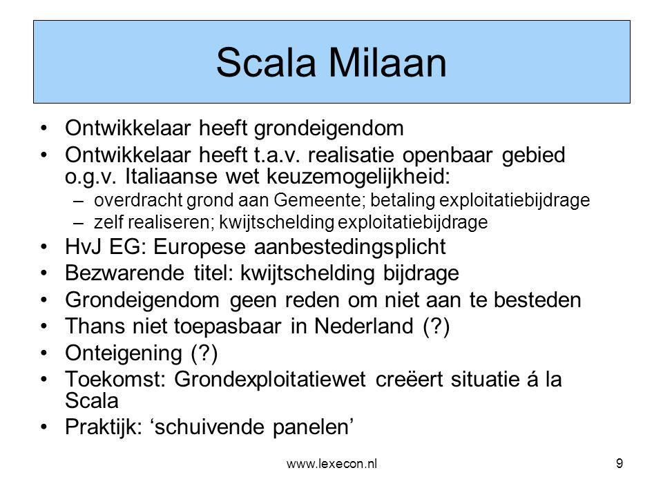 Scala Milaan Ontwikkelaar heeft grondeigendom