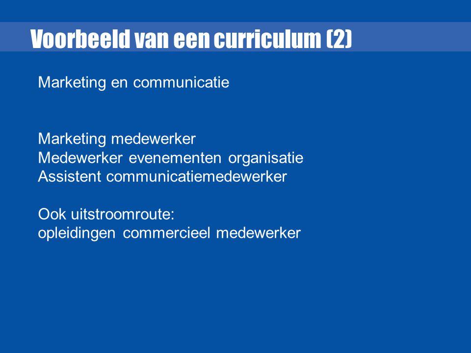 Voorbeeld van een curriculum (2)