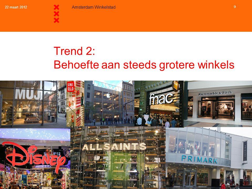 Trend 2 en beleid: Behoefte aan steeds grotere winkels