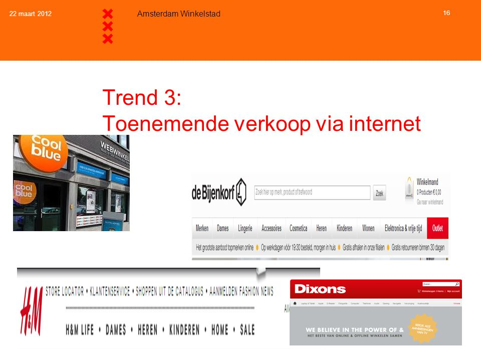 Trend 3: Toenemende verkoop via internet