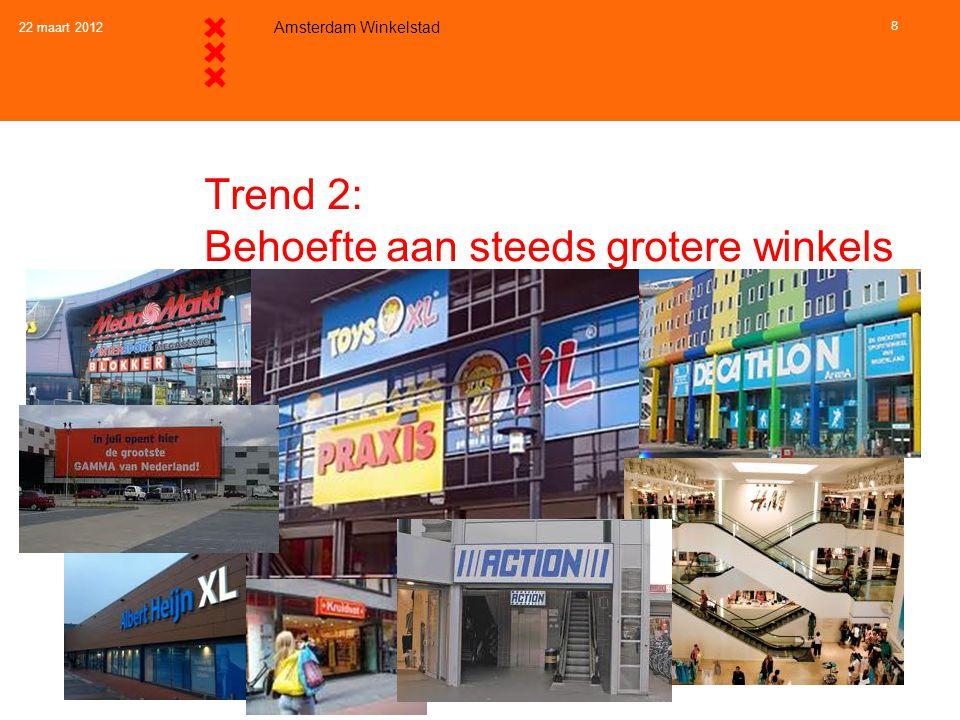 Trend 2: Behoefte aan steeds grotere winkels