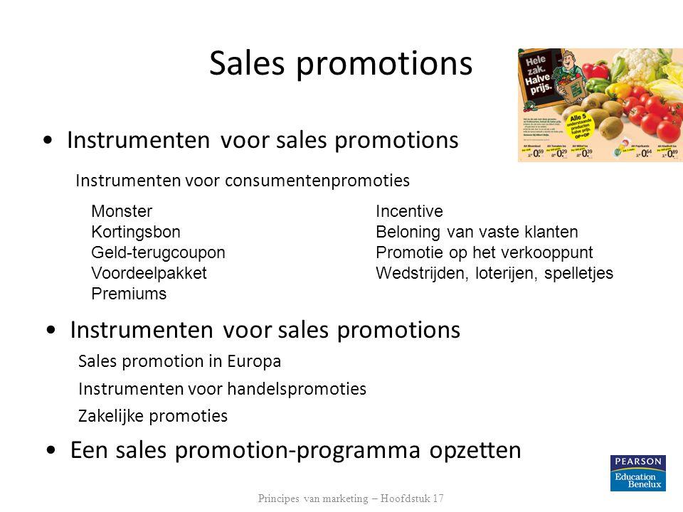 Principes van marketing – Hoofdstuk 17