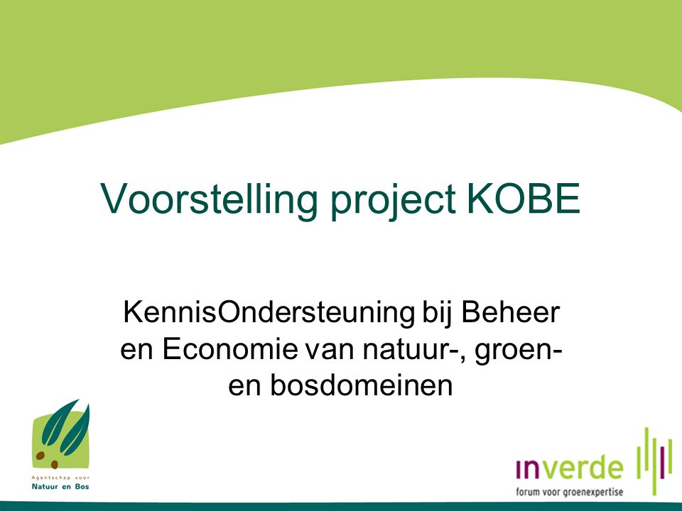 Voorstelling project KOBE