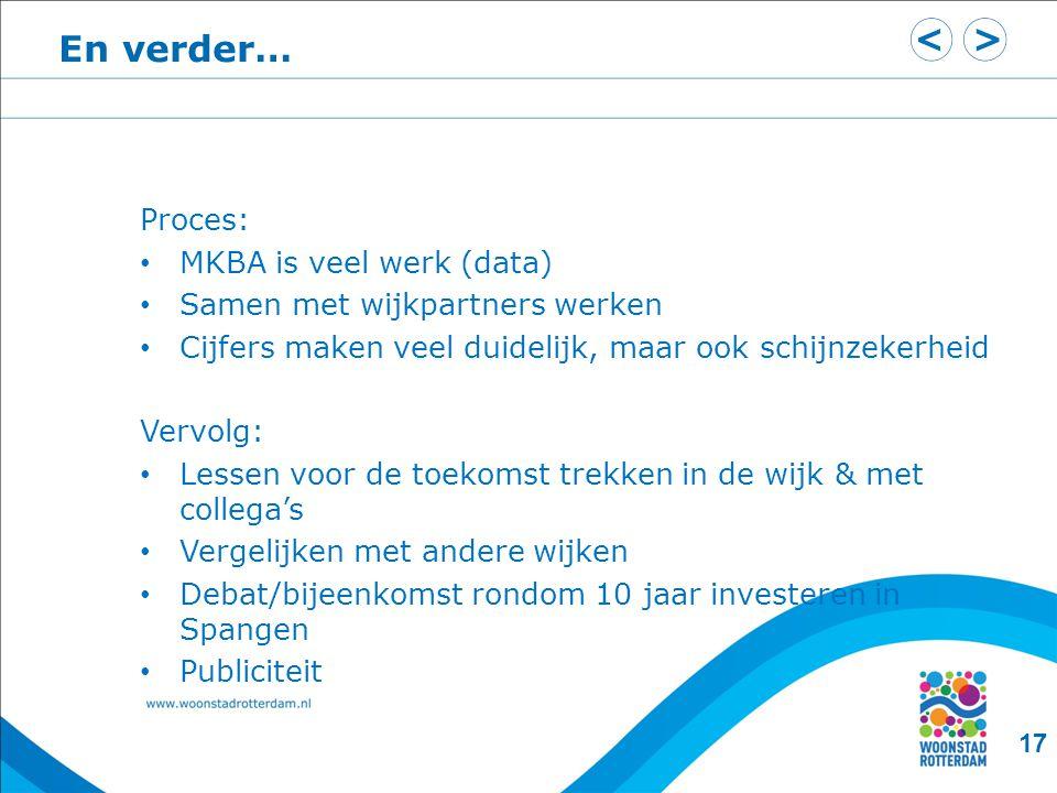 En verder… Proces: MKBA is veel werk (data)