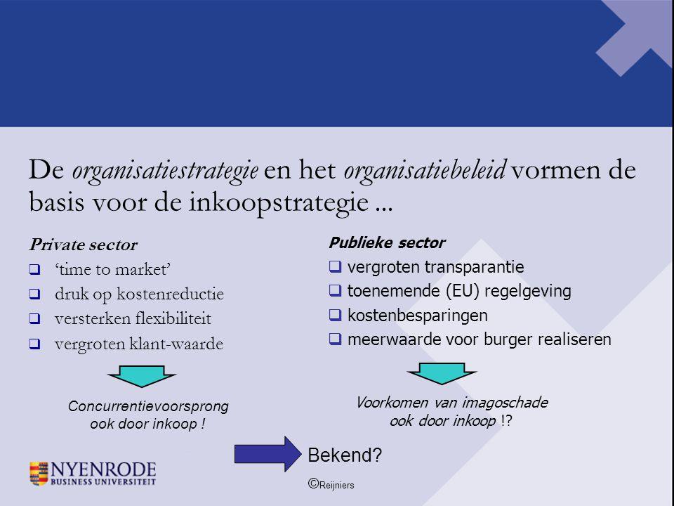 De organisatiestrategie en het organisatiebeleid vormen de basis voor de inkoopstrategie ...