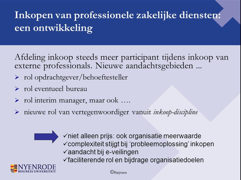 Inkopen van professionele zakelijke diensten: een ontwikkeling