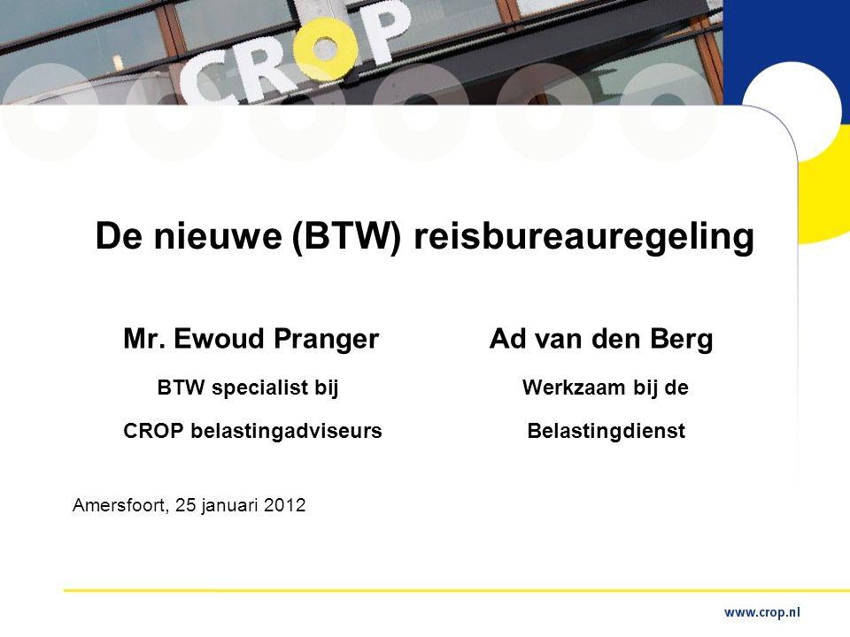 De nieuwe (BTW) reisbureauregeling