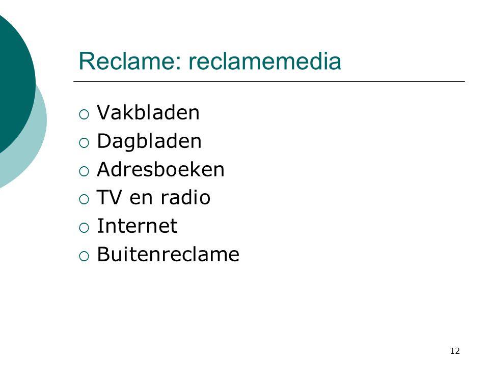 Reclame: reclamemedia