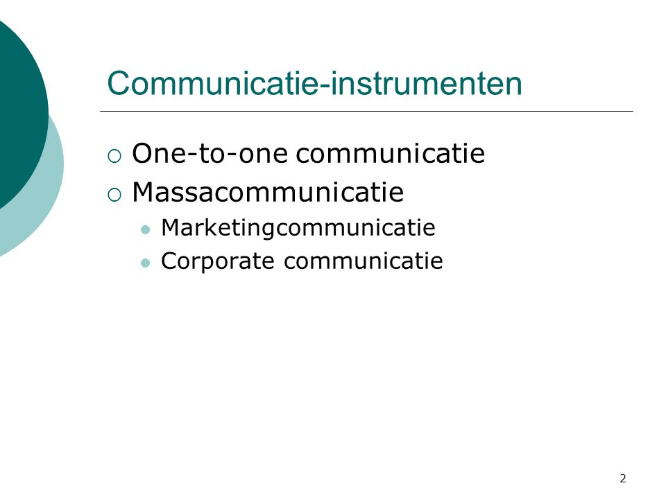 Communicatie-instrumenten