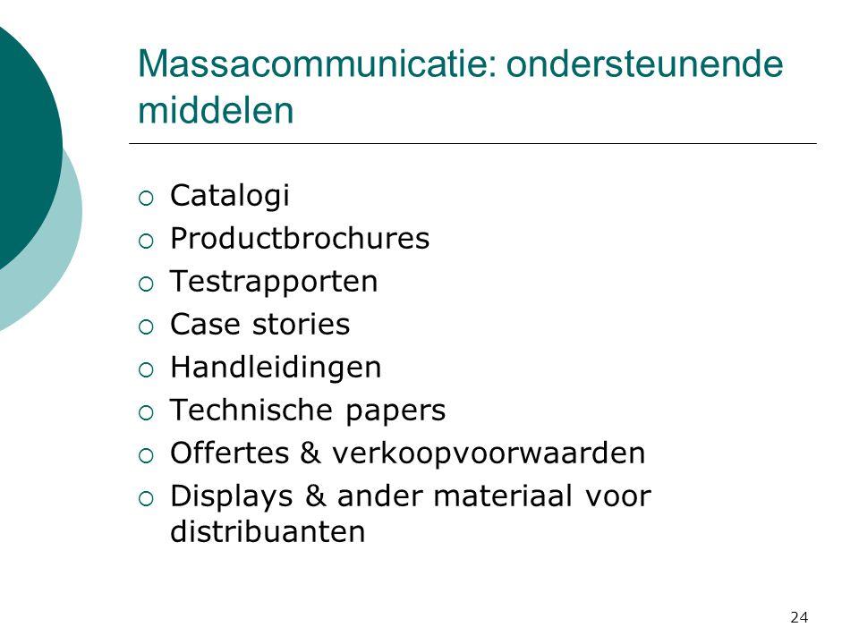 Massacommunicatie: ondersteunende middelen
