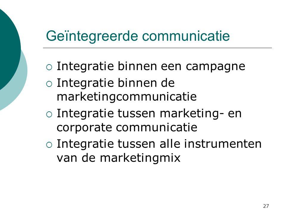 Geïntegreerde communicatie