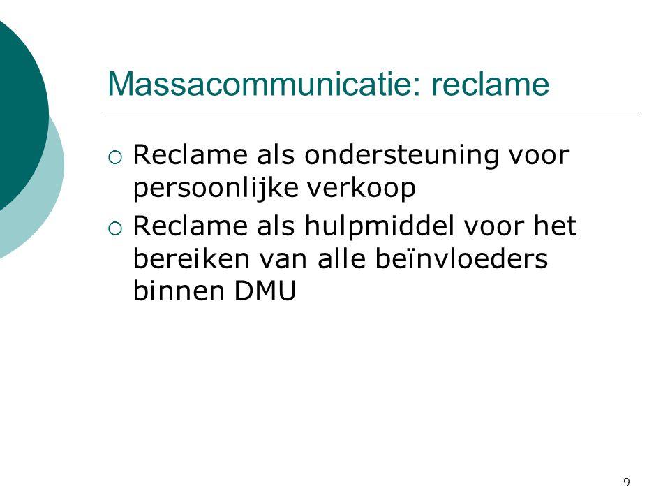 Massacommunicatie: reclame