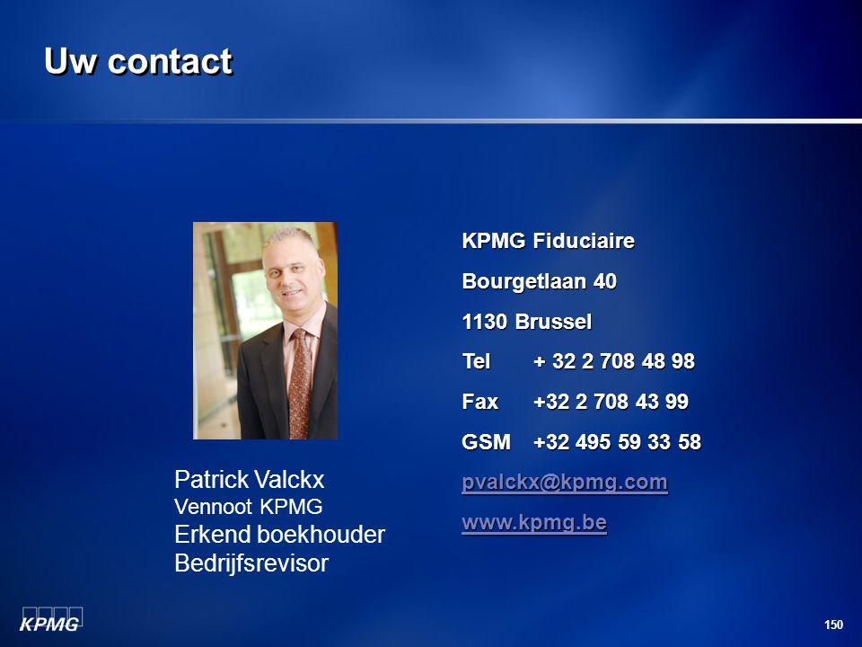 Uw contact Patrick Valckx Erkend boekhouder Bedrijfsrevisor