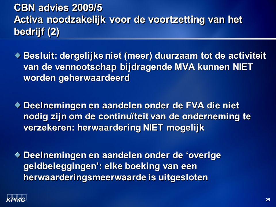CBN advies 2009/5 Activa noodzakelijk voor de voortzetting van het bedrijf (2)