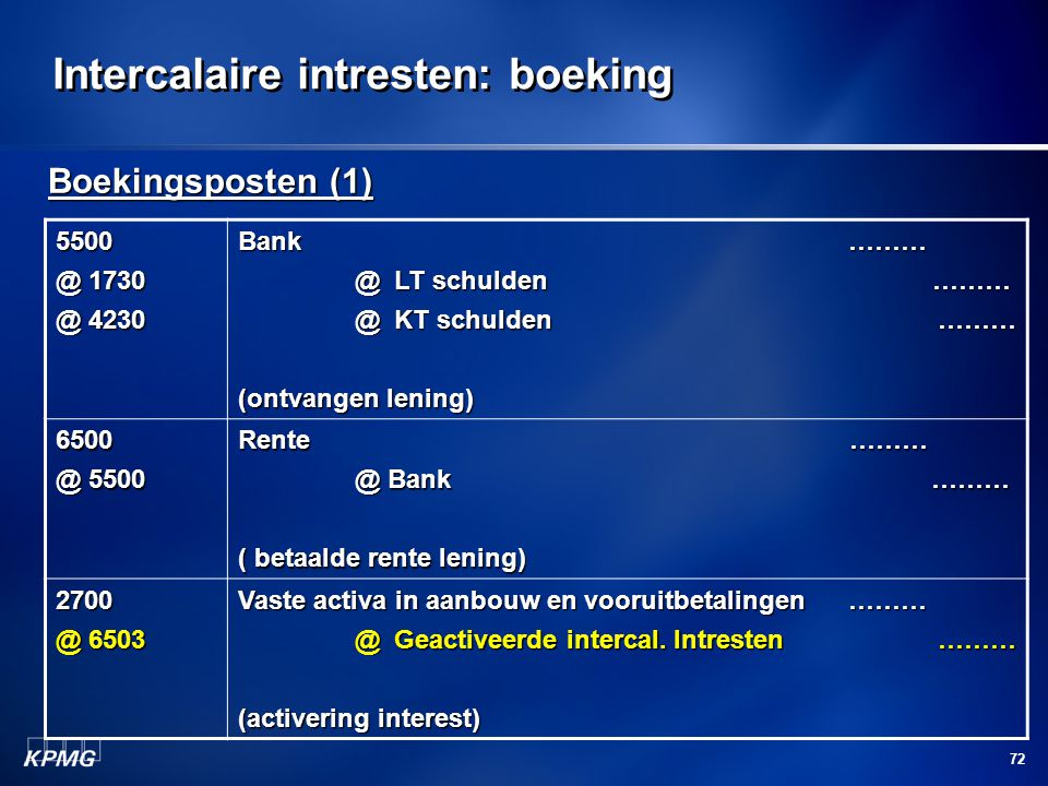 Intercalaire intresten: boeking