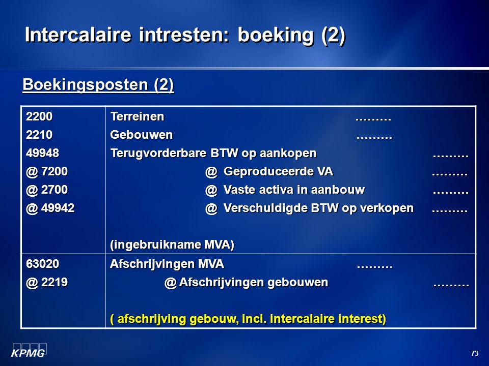 Intercalaire intresten: boeking (2)