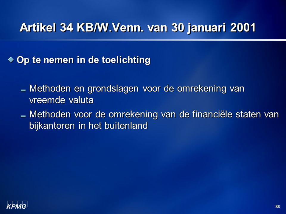 Artikel 34 KB/W.Venn. van 30 januari 2001