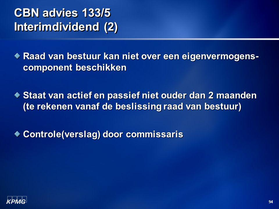 CBN advies 133/5 Interimdividend (2)