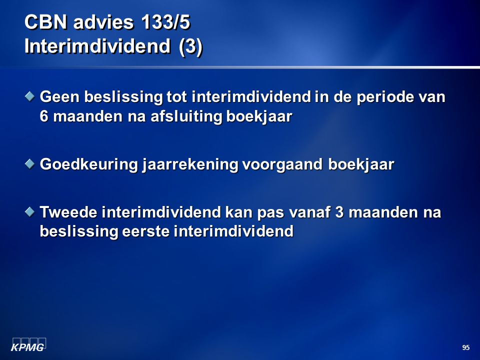 CBN advies 133/5 Interimdividend (3)