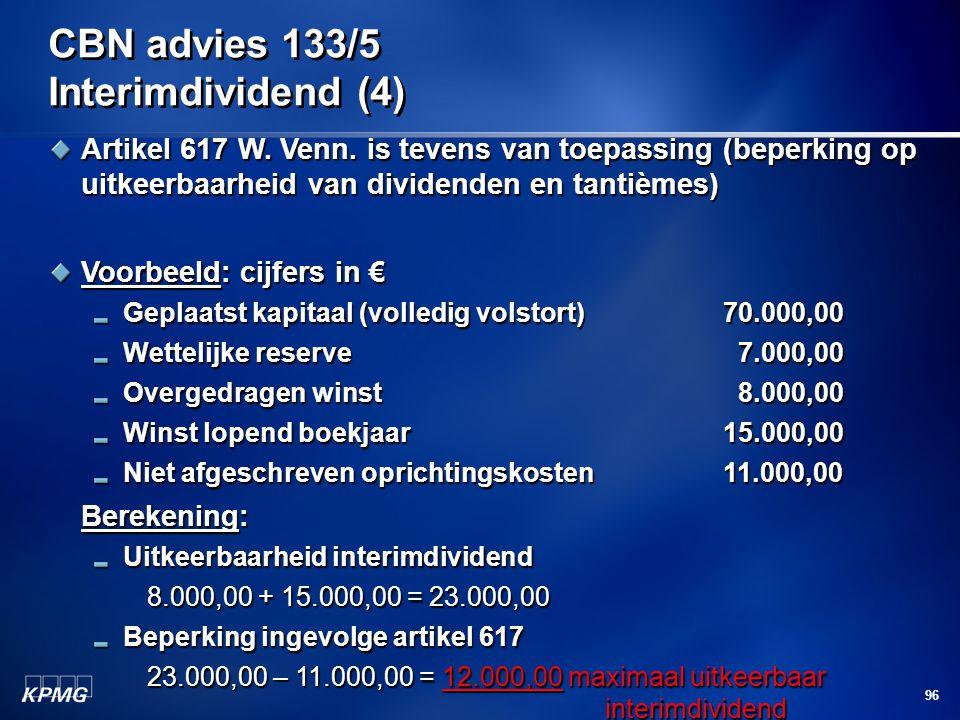 CBN advies 133/5 Interimdividend (4)