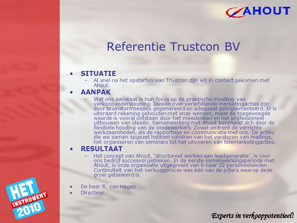 Referentie Trustcon BV