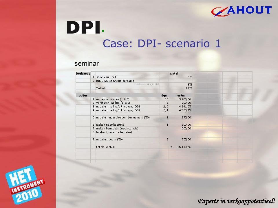 Case: DPI- scenario 1 seminar