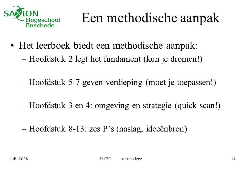 Een methodische aanpak