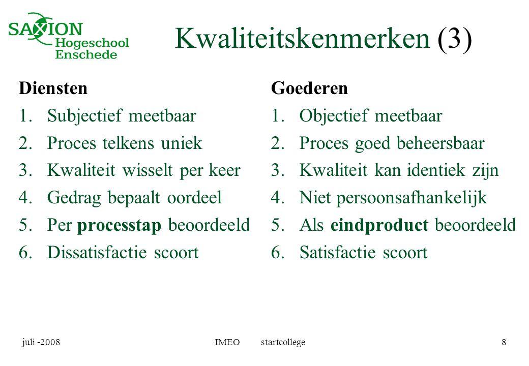 Kwaliteitskenmerken (3)
