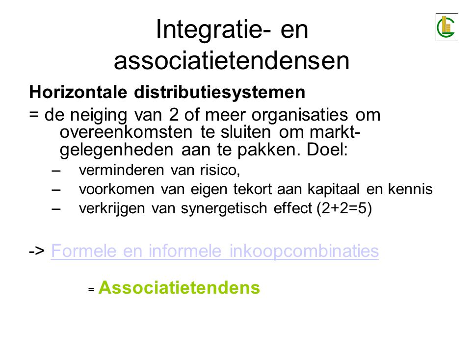 Integratie- en associatietendensen