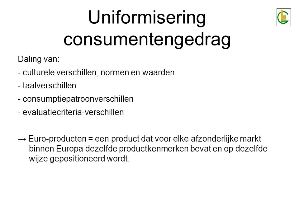 Uniformisering consumentengedrag