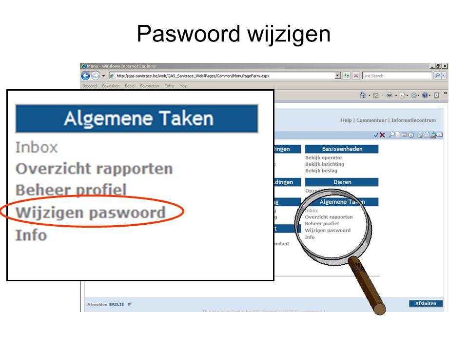 Paswoord wijzigen