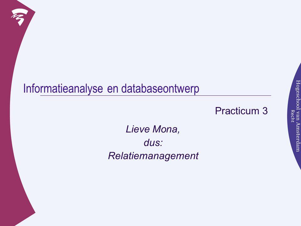 Informatieanalyse en databaseontwerp