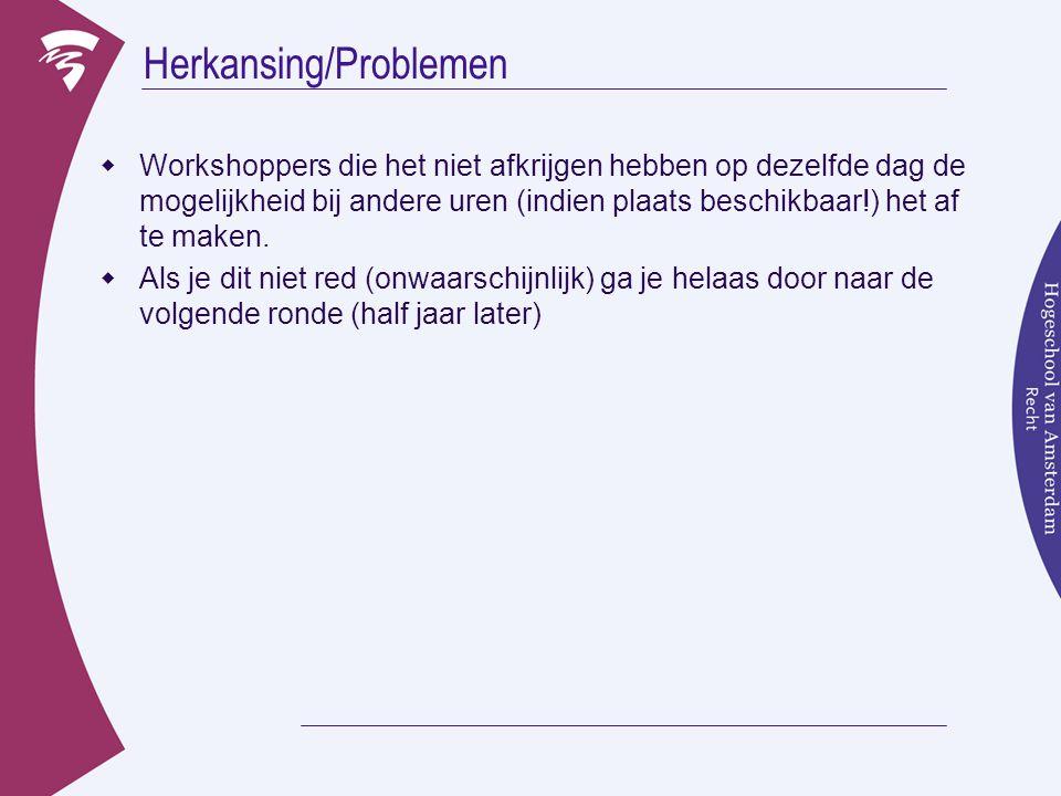 Herkansing/Problemen