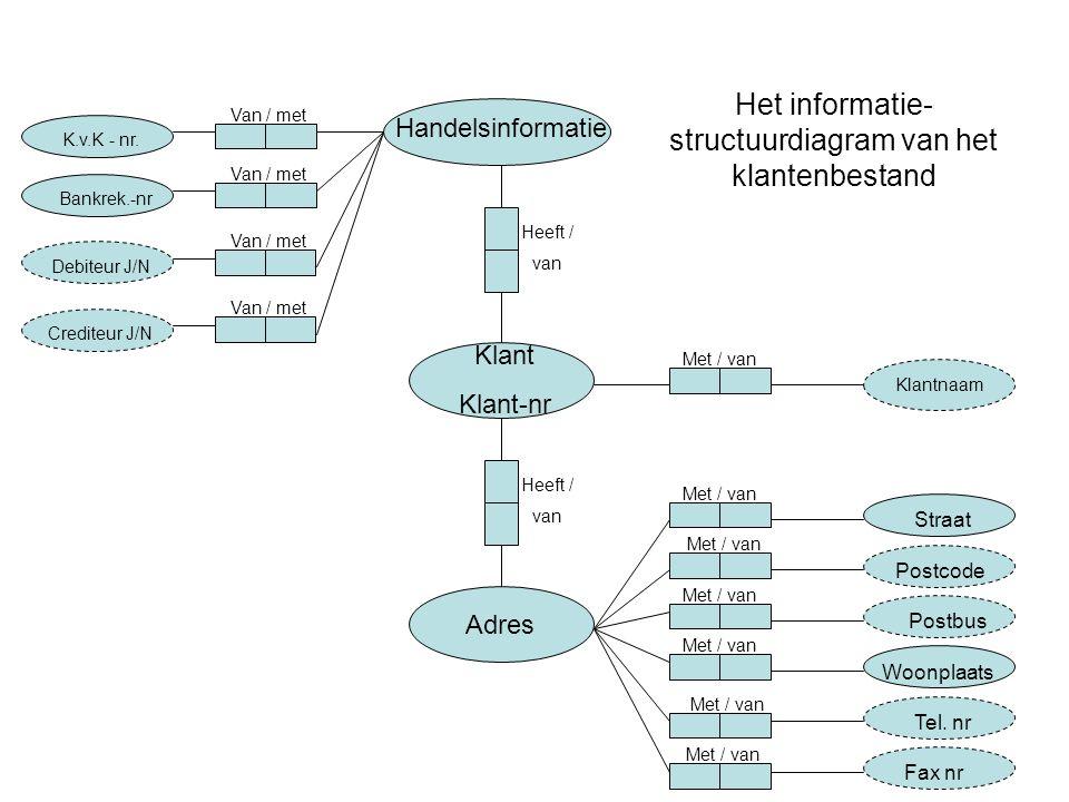 Het informatie-structuurdiagram van het klantenbestand