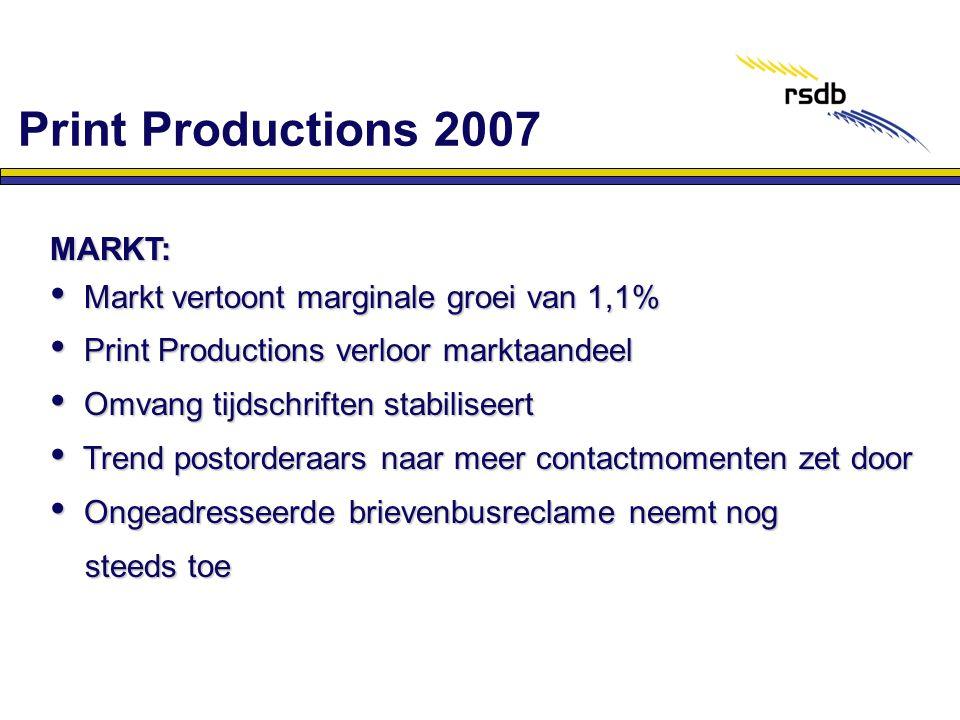 Print Productions 2007 MARKT: Markt vertoont marginale groei van 1,1%