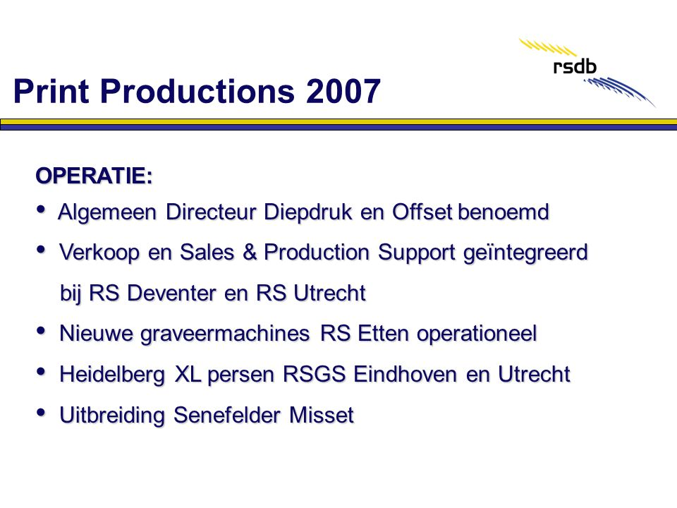 Print Productions 2007 OPERATIE: