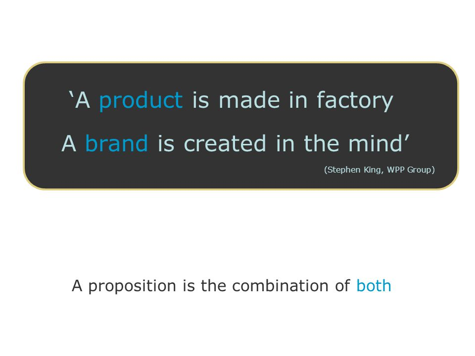 'A product is made in factory