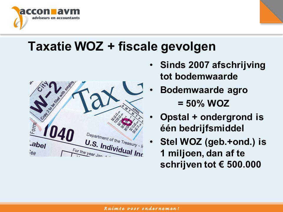 Taxatie WOZ + fiscale gevolgen
