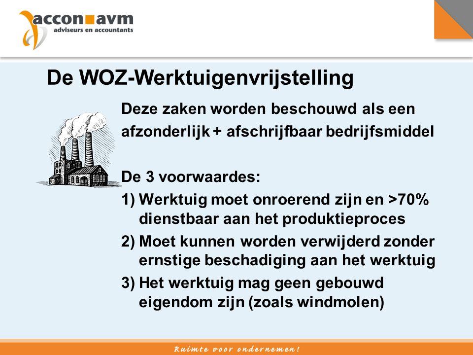 De WOZ-Werktuigenvrijstelling