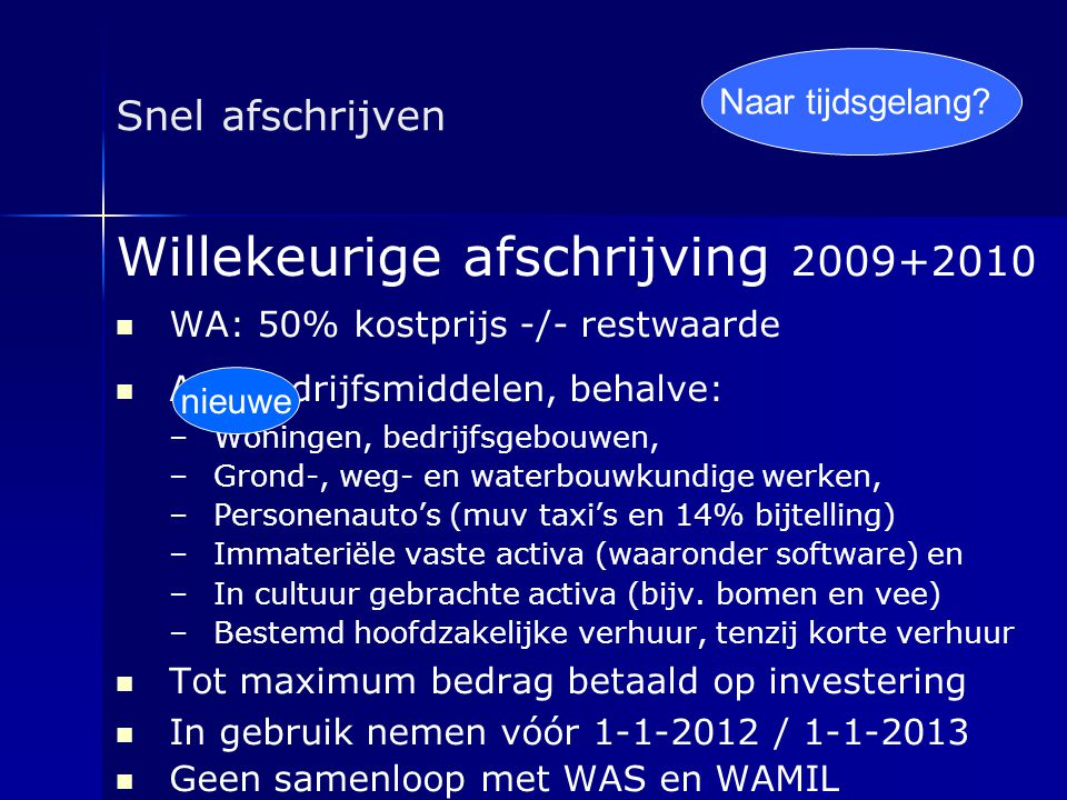 Willekeurige afschrijving 2009+2010