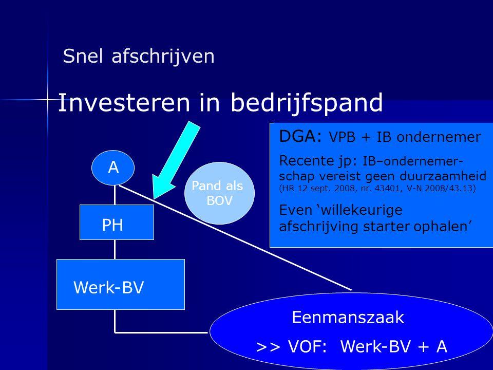 >> VOF: Werk-BV + A