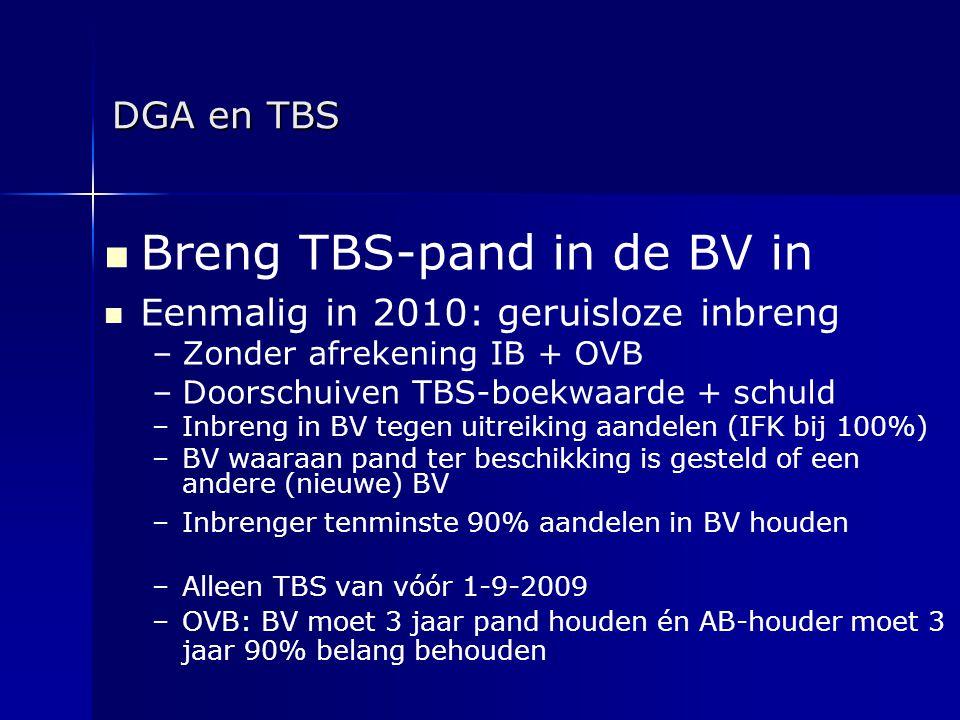 Breng TBS-pand in de BV in