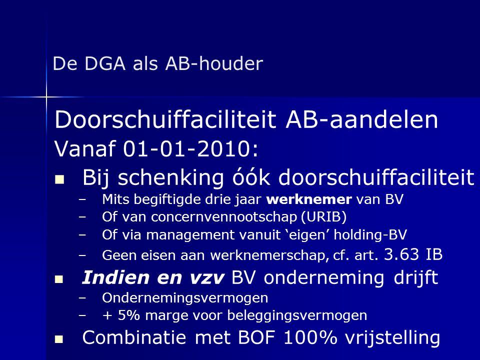 Doorschuiffaciliteit AB-aandelen