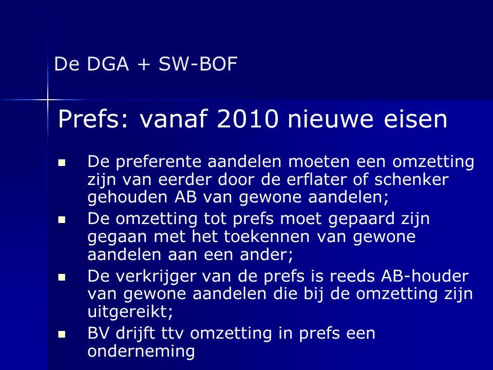 Prefs: vanaf 2010 nieuwe eisen