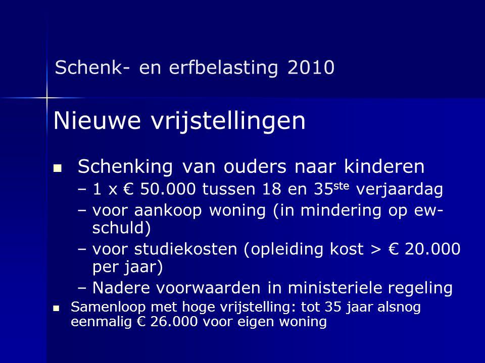 Schenk- en erfbelasting 2010