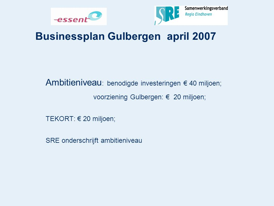 Businessplan Gulbergen april 2007