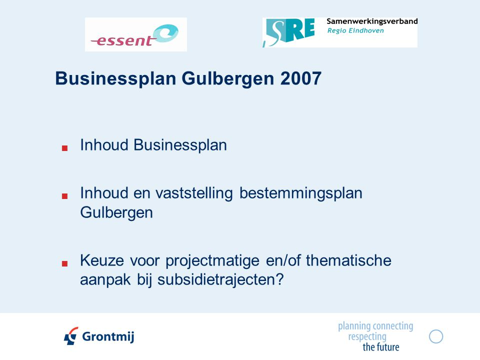 Businessplan Gulbergen 2007