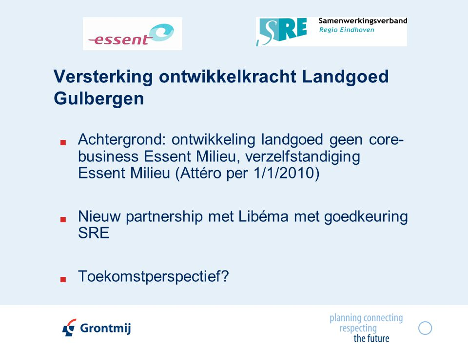 Versterking ontwikkelkracht Landgoed Gulbergen